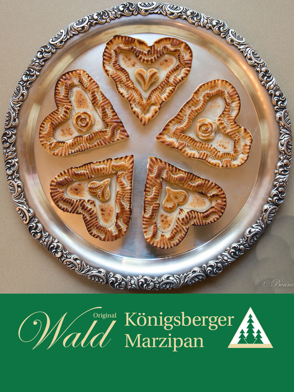Original Wald Königsberger Marzipanherzen geflämmt 380g