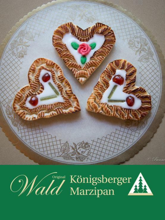 Original Wald Königsberger Marzipanherzen gefüllt 120g