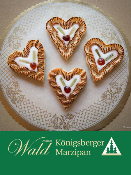Original Wald Königsberger Marzipanherzen gefüllt 80g