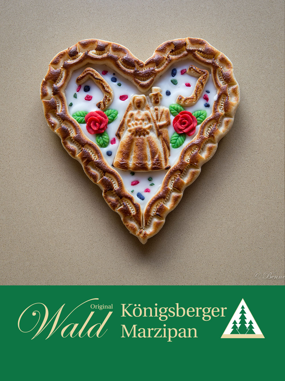 Original Wald Königsberger Marzipanherzen Hochzeit 380g