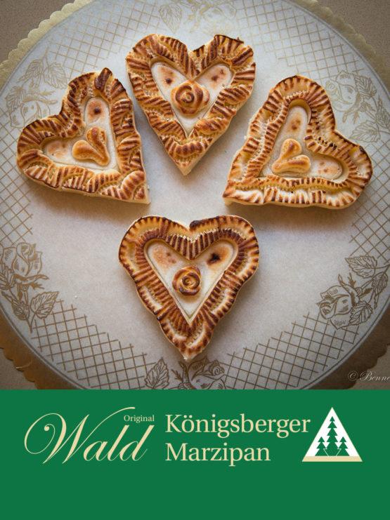 Original Wald Königsberger Marzipanherzen geflämmt 80g