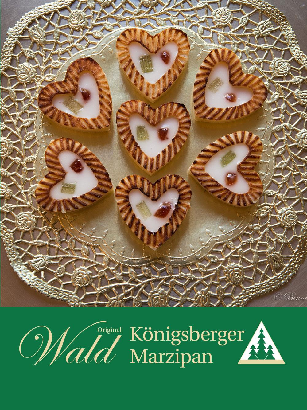 Original Wald Königsberger Marzipanherzen gefüllt 20g