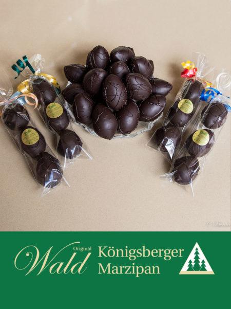 6 Ostereier in Edelbitterschokolade