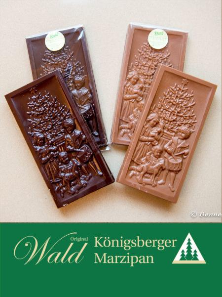 Schokoladentafel Weihnachtsmotiv